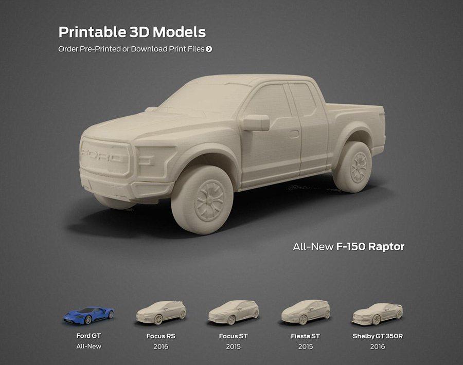 想要在家列印 Ford車款模型要先買一台3D列印機! Ford