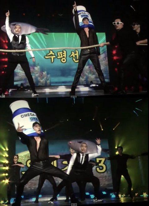 結束在台北連兩場的演唱會後,EXO成員珉錫(XIUMIN)返韓後就馬上趕到師兄東方神起在韓國首爾的演唱會擔任演出嘉賓,並在昌珉solo的環節上與師兄上演了一段令粉絲絕對難忘的表演,因為珉錫竟戴起超大...