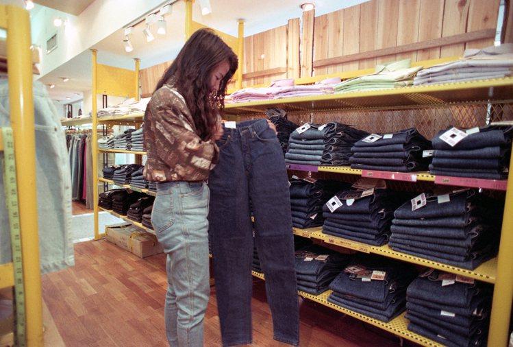 九○年代前中期很流行高腰褲。圖/聯合報資料照