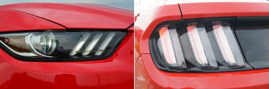 銳利的頭燈造型與經典三道格柵式尾燈,相當吸睛。 記者趙惠群/攝影