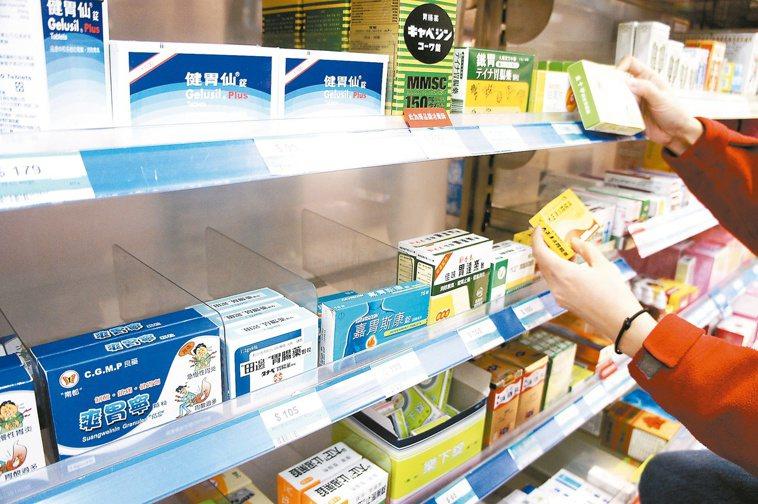 國人一年吃掉廿二億顆胃藥。 本報資料照片