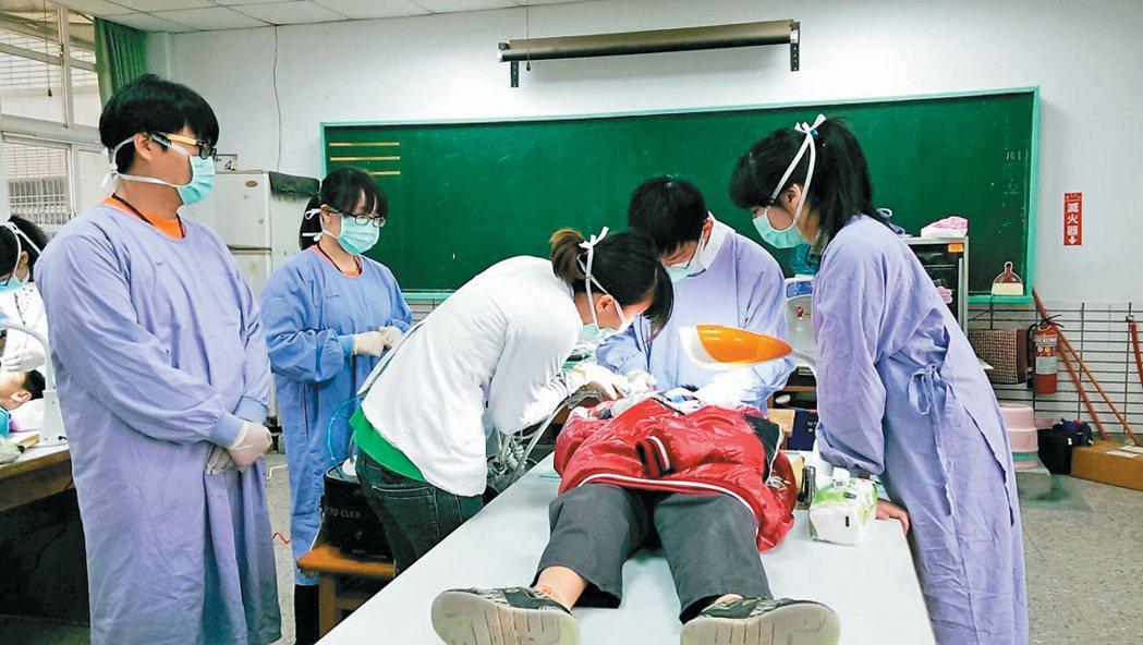 上月台大牙醫系學生到元長鄉義診發現,隔代教養孩子口腔保健情況尤差,蛀牙率高。偏鄉...