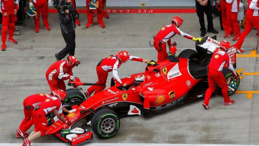Kimi Raikkonen在第一段排位賽太晚出發而錯過製造最快單圈的機會,直接...
