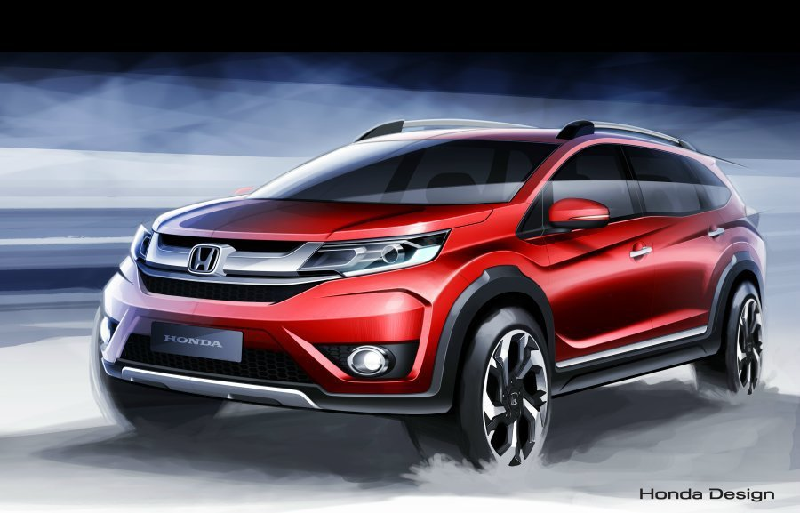 Honda看準SUV休旅車市場,原廠公佈全新BR-V Prototype的設計圖...