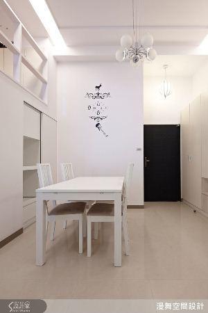 壁貼和時鐘刻度的結合,頓時讓單調的白牆,有了聚焦點,同時活潑空間氛圍,日後也可以...