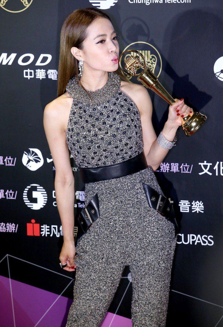 蔡依林獲得最佳演唱錄音專輯獎。記者余承翰/攝影