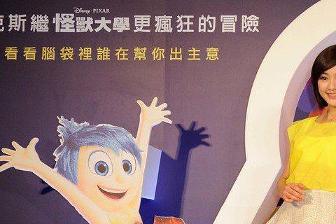 皮克斯動畫片「腦筋急轉彎」中文版請到陳意涵與許瑋甯獻聲,分別為片中主角「樂樂」與「憂憂」配音。性格開朗的陳意涵開玩笑說,她是天生High咖,情緒常由代表歡樂的「樂樂」主控,但其實更多是「肖肖」(瘋瘋...