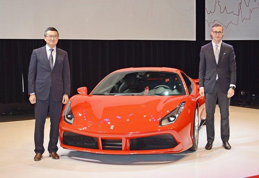 488 GTB發表由Ferrari大中華區總裁兼首席執行官Matteo Torr...