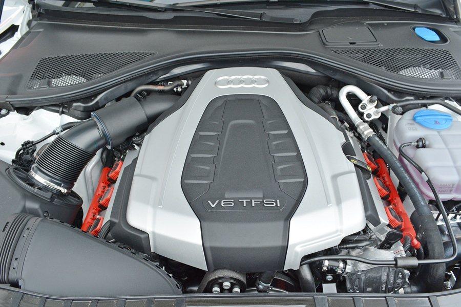 A7 Sportback搭載V6 TFSI引擎,最大馬力達到333hp。 記者趙...