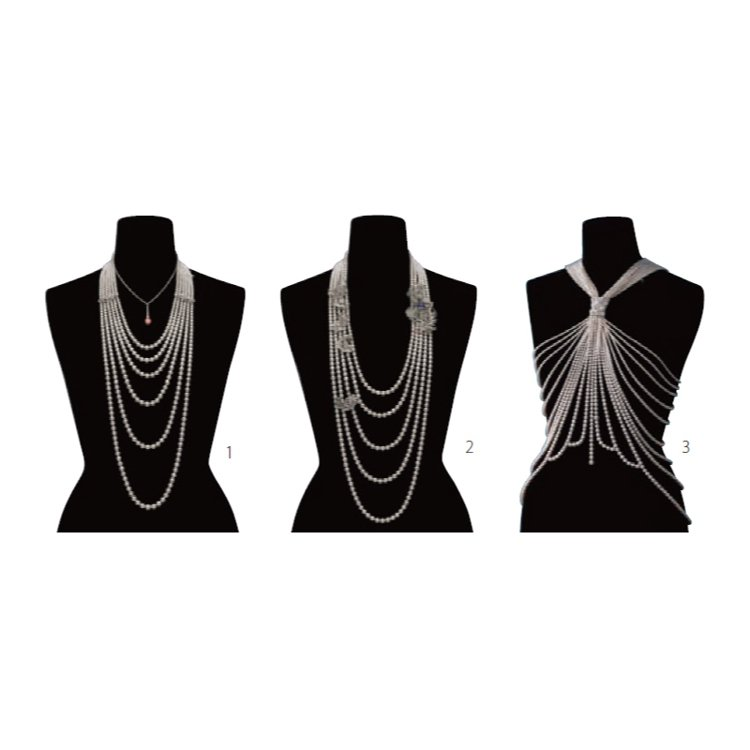 1. 設計師安西真澄設計的作品:珍珠綢幔Pearl Stream。2. 設計...