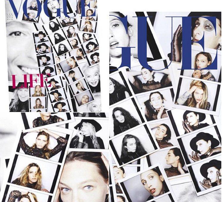 義大利 VOGUE 雜誌為了慶祝女人的永恆之美,請來一票明星、超模參加黑白主題攝...