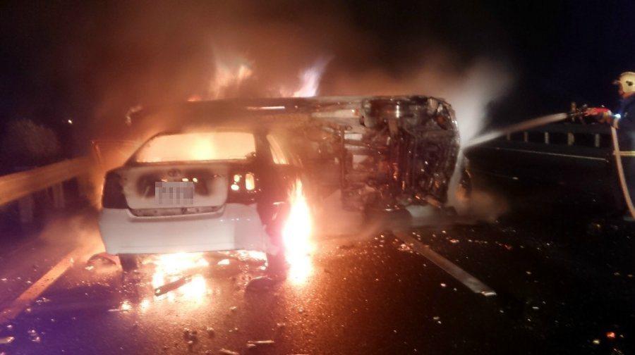 最近幾次火燒車意外均是因為車禍所引起的,且駕駛者都是因受困車內無法逃生而慘遭火吻...