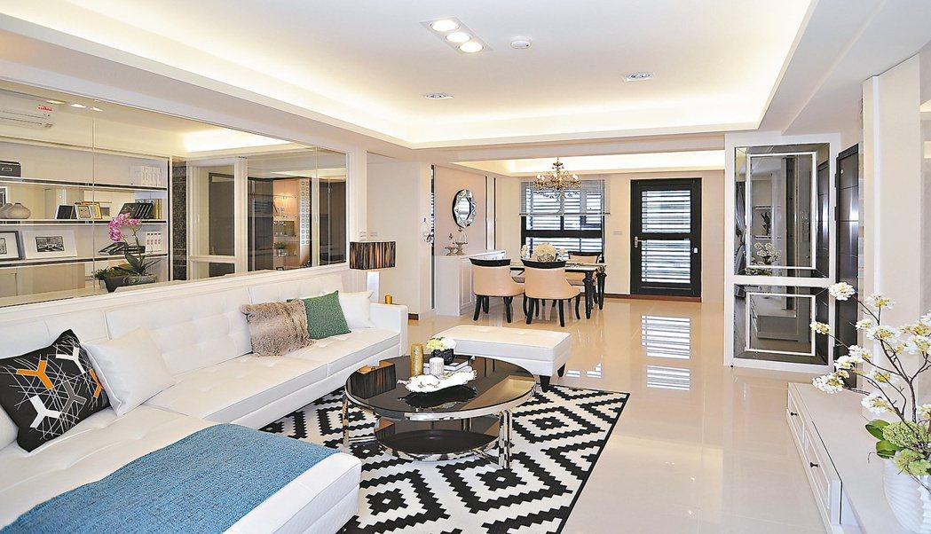 「蔚藍海」擁有大坪數的居家空間。 圖/昶威建設提供