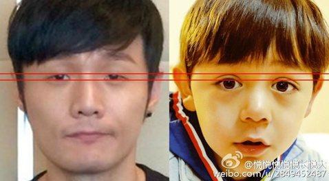中國歌手李榮浩才華洋溢也擁有一雙率性的小眼睛,但卻被網友製圖發現,李榮浩眼睛的大小程度,竟與金馬影帝劉燁的兒子劉諾一的上眼皮一樣大,網友為了證明還貼心的畫上了對比紅線讓人一目了然。年僅四歲的劉諾一,...