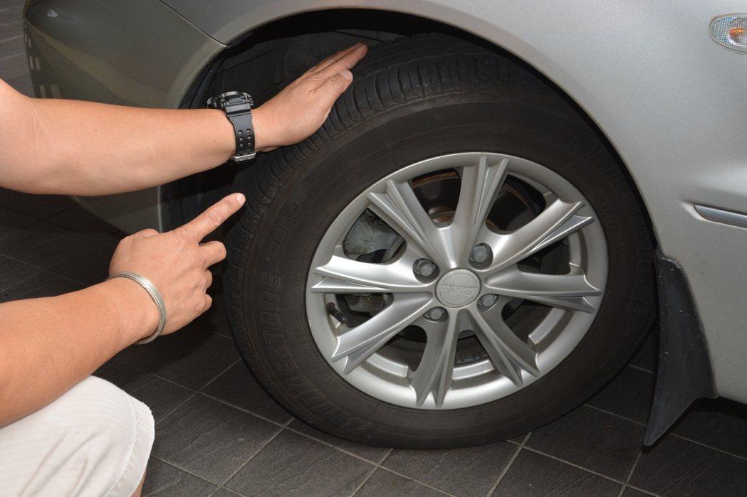上路前檢查輪胎表面或胎壁是否有異常凸起、龜裂,也要養成定時量測胎壓、胎紋深度 記...