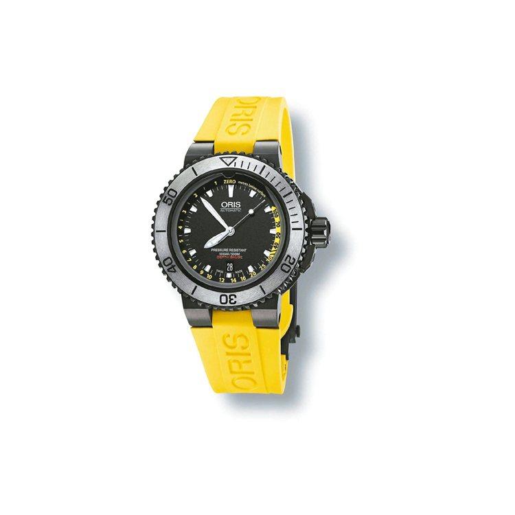 Oris Aquis Depth Gauge深度測量潛水表,自動上鍊機芯,防水5...