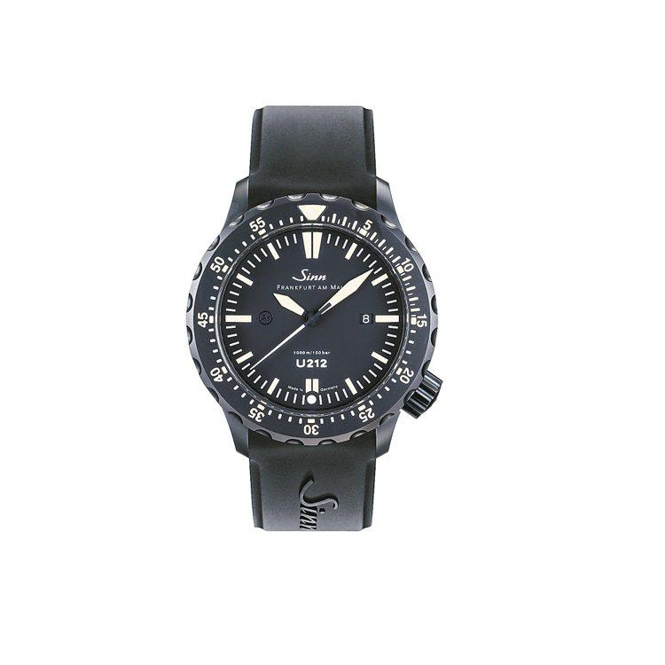 Sinn U212 S E 1000米專業潛水限量表,橡膠表帶,10萬8,000...