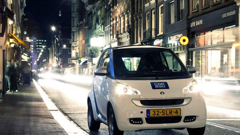 政府的政策支持,讓共享汽車得以在荷蘭蓬勃發展。 圖擷自Car2Go(荷蘭共享汽車...
