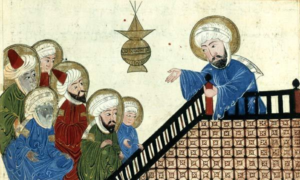 先知穆罕默德與追隨者。 圖擷自<a href=' http://www.zomb...