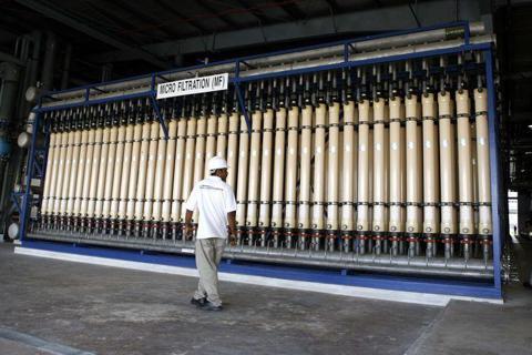 新加坡NEWater水處理廠。 圖/路透社