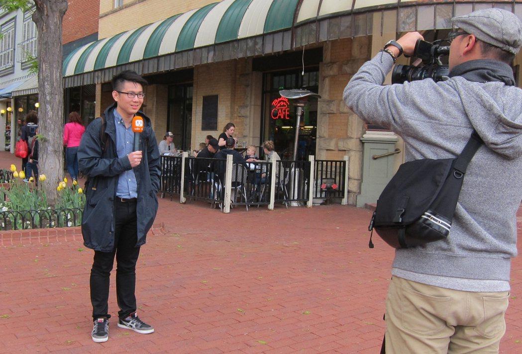 美國街頭採訪自由無限制。 記者 李宗憲/攝影