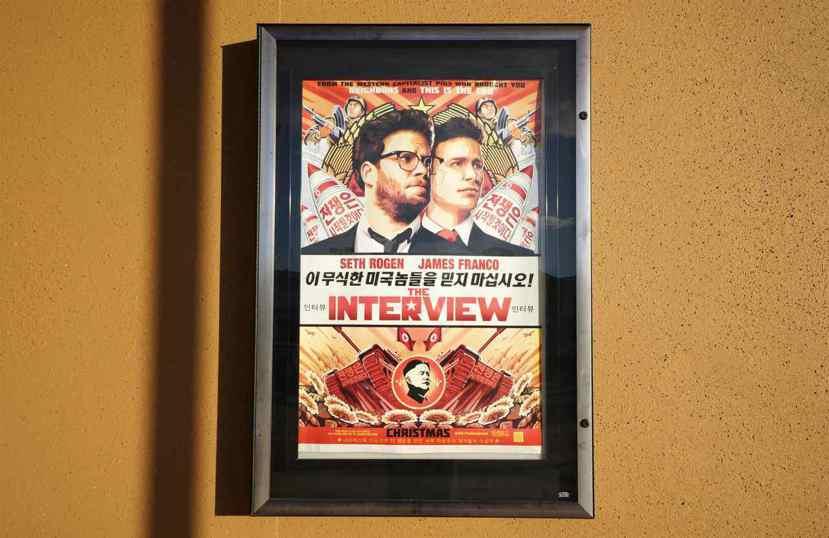 SONY影業電影《名嘴出任務》(The Interview)海報。 圖/路透社