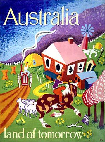 1948年澳洲政府在英國招募「祖國內地」移民的廣告。 圖擷自<a href='h...
