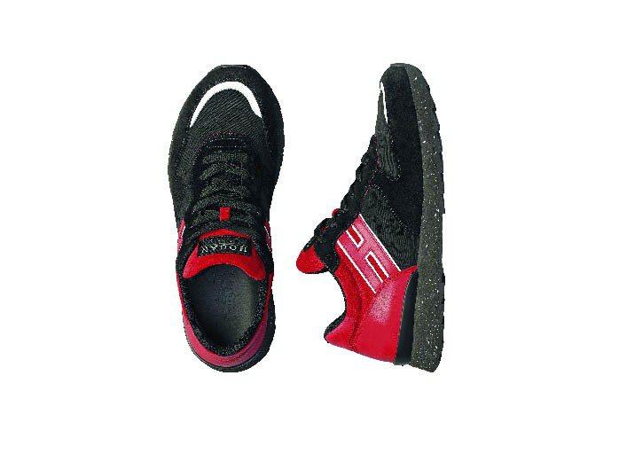 HOGAN Rebel麂皮拼接皮革繫帶休閒鞋、16,900元。圖/HOGAN提供