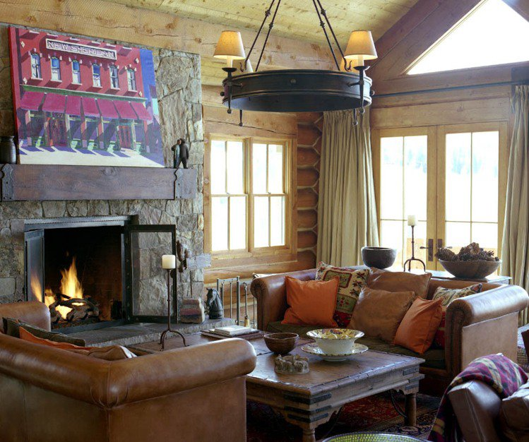 Bobbi Brown在特柳賴德居住的小屋,客廳布置得相當溫馨。圖/BOBBI ...