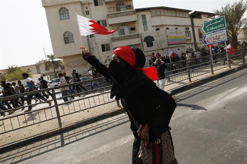 巴林示威者。 圖/路透社