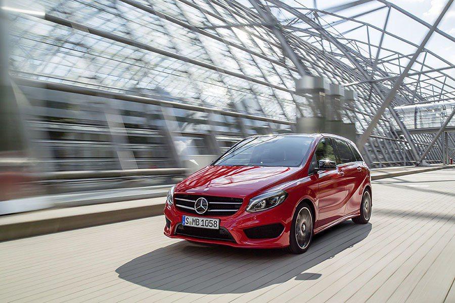 現行版 B-Class。 摘自 Mercedes-Benz。
