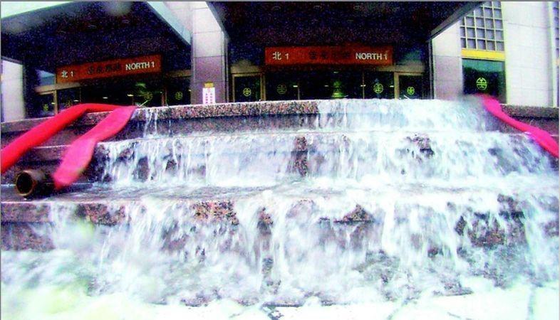 台北車站「洩洪」中。 圖片來源/聯合報系