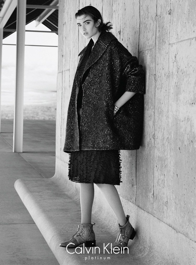 Calvin Klein platinum 2015全球秋冬形象廣告系列由模特兒...