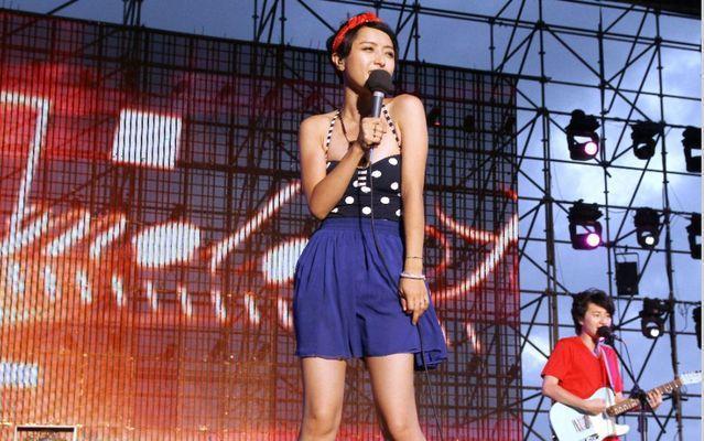 旺福的也變成中國的黑名單歌曲,圖為旺福在2013貢寮海洋音樂祭演唱畫面。/聯合報...