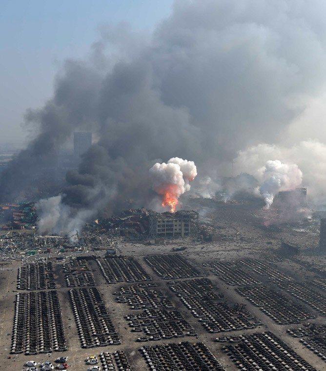 天津大爆炸案造成數百人死傷。 新華社
