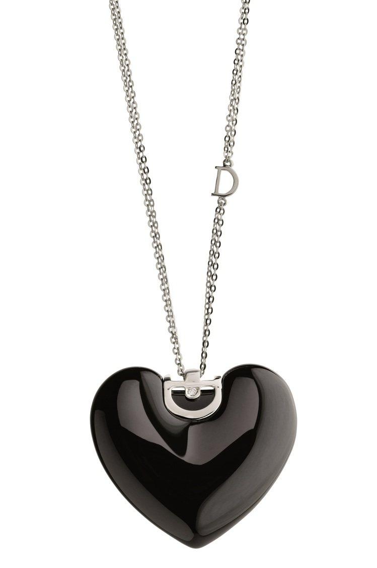 D.Icon魅力系列雙層鍊,白K金搭配黑色陶瓷,54,800元。圖/DAMIAN...