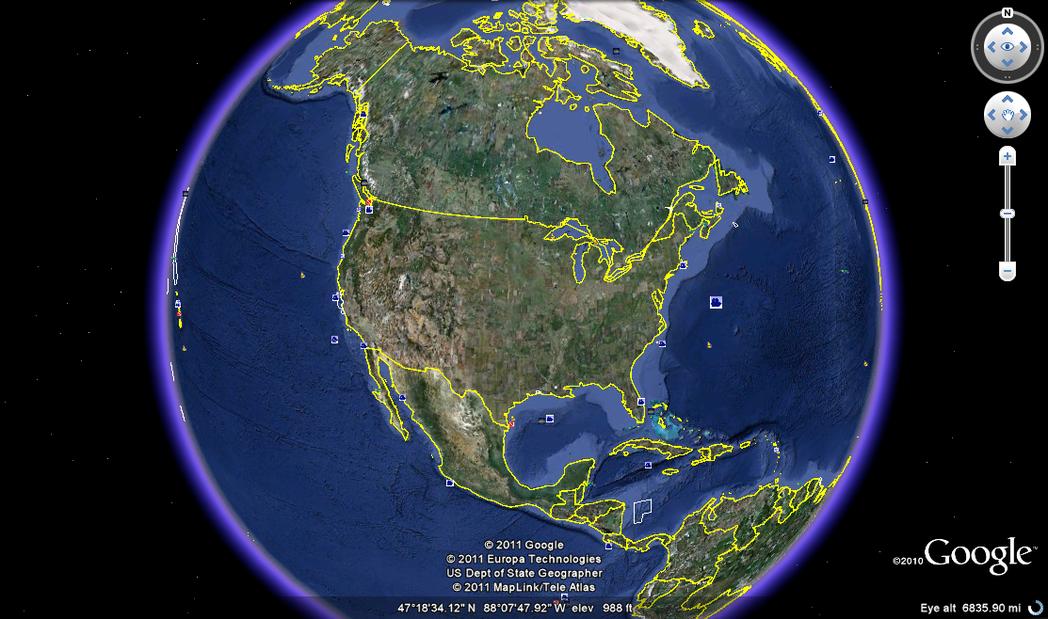 就是這個地球,你可以一直拉近,過程就像乘坐噴射機,擴展能力非常的強。 圖片來源/...