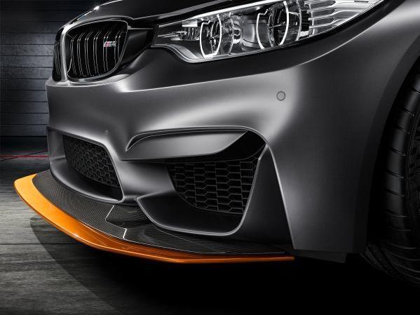BMW Concept M4 GTS 車頭有大塊分流器。  圖/BWM提供