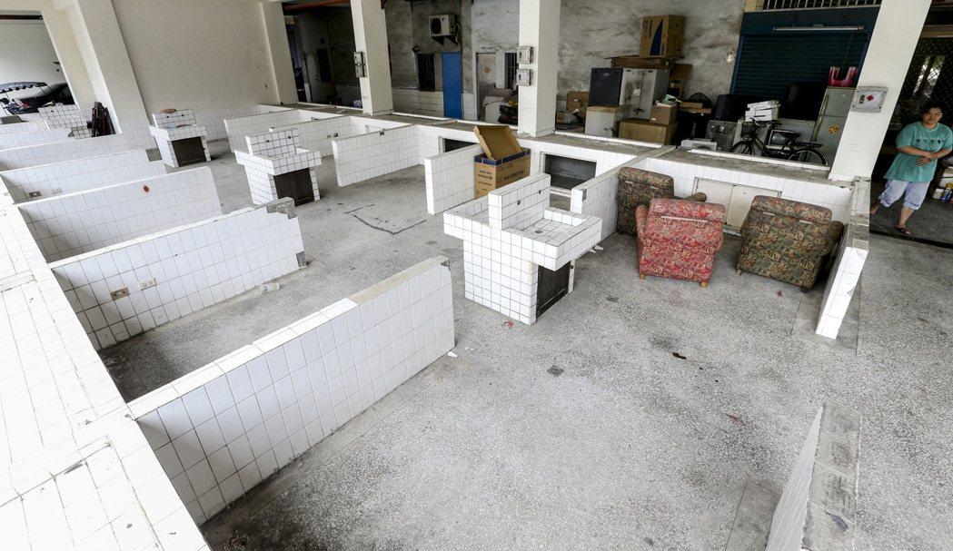 雲林縣水林鄉公有零售市場曾荒廢多年。 記者黃士航/攝影