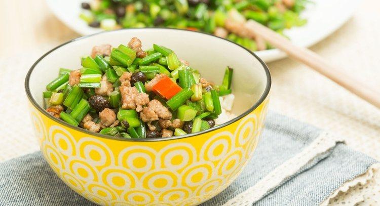 韭菜與豆鼓的特殊香氣,搭配肉末,十分下飯。