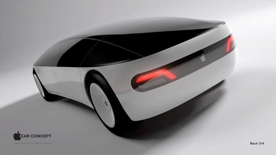 由插畫者Aristomenis Tsirbas創作假像的Apple Car無人車...