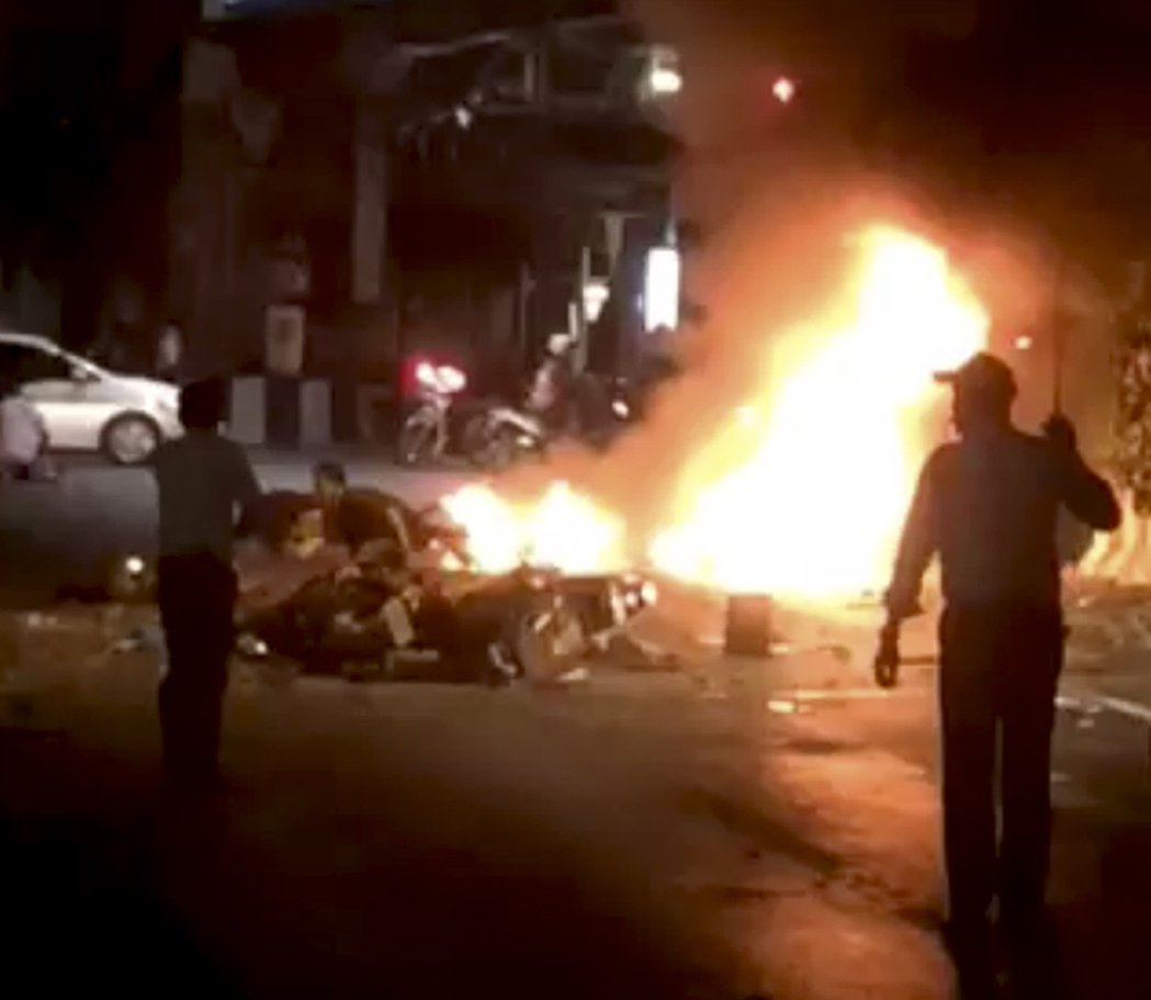 泰國首都曼谷市中心最熱鬧的四面佛一帶今晚驚傳大爆炸。 美聯社