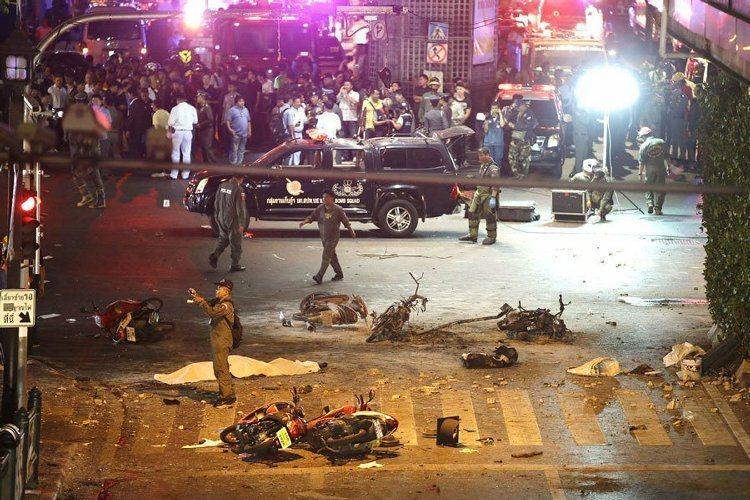 曼谷四面佛寺發生爆炸。美聯社