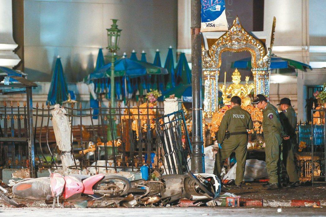 泰國首都曼谷著名景點「四面佛」驚傳爆炸事件。 歐新社