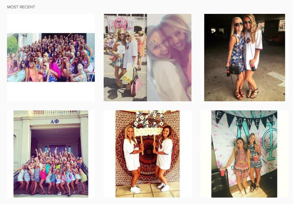姐妹會的instagram帳號,女孩們貼出影片側拍的照片,但因為影片受到網友抨擊...