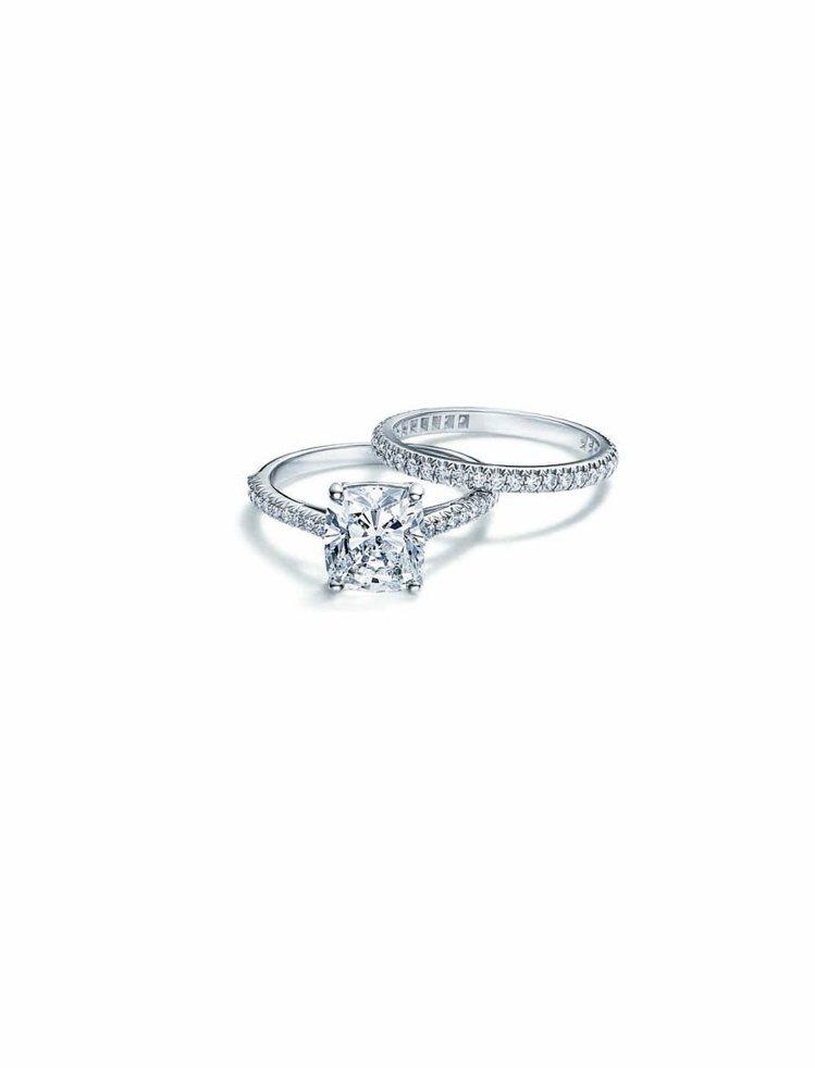 Tiffany Novo新款鑽石鉑金戒指(下)鑽石切割面更細緻,更顯閃亮,主石1...