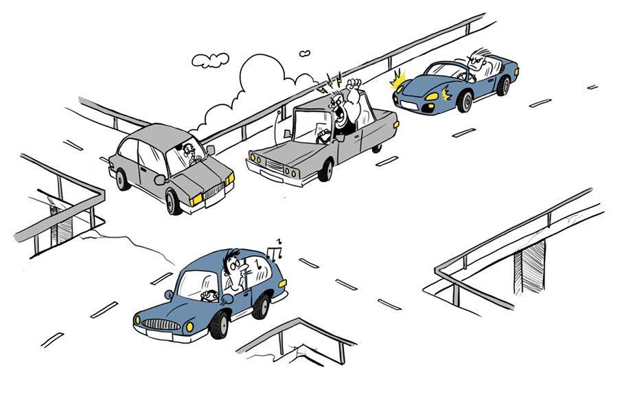 避免衝突型駕駛。 摘自lse.ac.uk