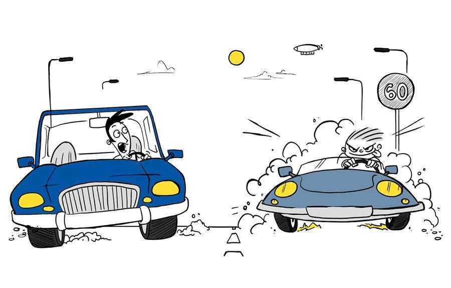 競爭飆仔型駕駛。 摘自lse.ac.uk