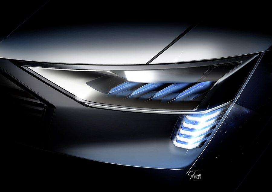 創新的新世代Matrix矩陣式OLED照明科技,將首度應用在全新Audi e...