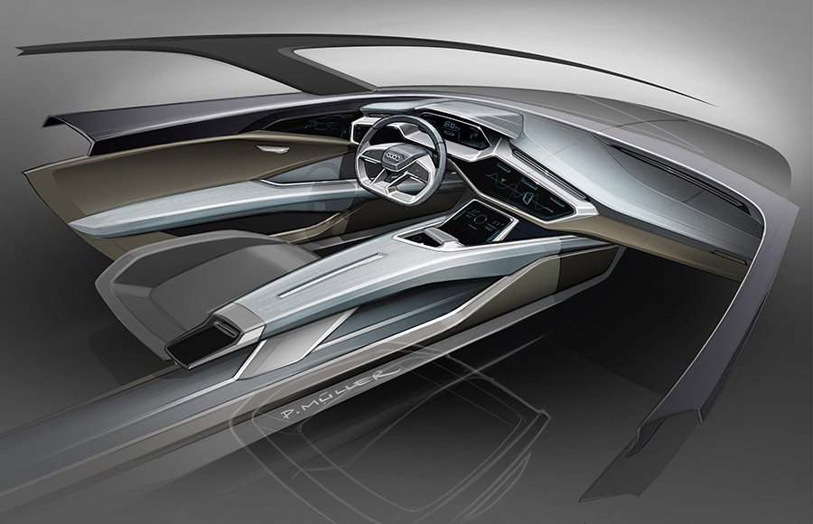 Audi e-tron quattro Concept的底盤結構,採用了先進的...